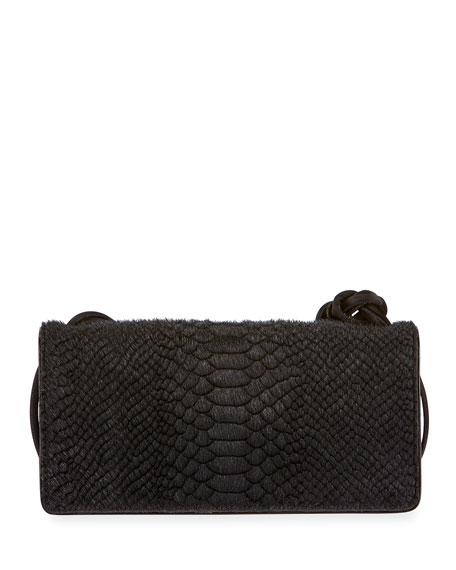 Dries Van Noten Snake-Embossed Shoulder Bag