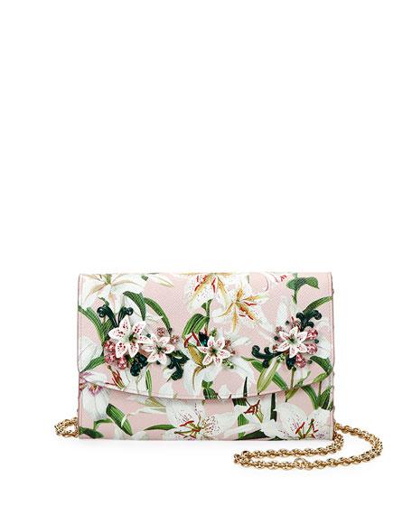 Dolce & Gabbana Lilium Leather Wallet On Chain
