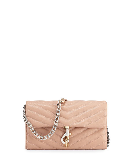 Image 1 of 3: Rebecca Minkoff Edie Quilted Leather Wallet On Chain