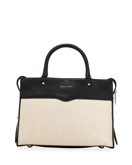 Rebecca Minkoff Bedford Zip Linen Satchel Bag
