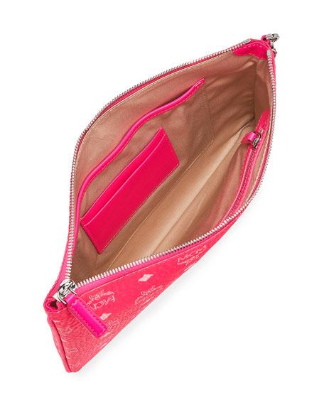 MCM Visetos Original Neon Zip-Top Clutch Bag