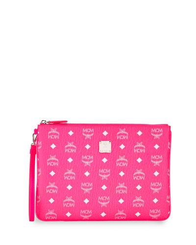 Visetos Original Neon Zip-Top Clutch Bag