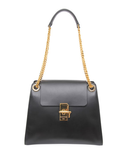 Chloe Annie Medium Smooth Shoulder Bag