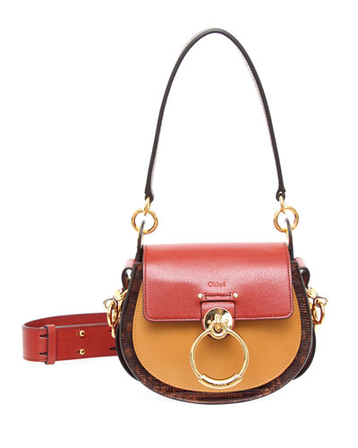 Tess Small Lizard-Embossed Crossbody Bag