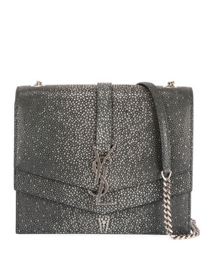 b2f8dd9adb5b Saint Laurent Suplice YSL Monogram Double-Flap Shoulder Bag