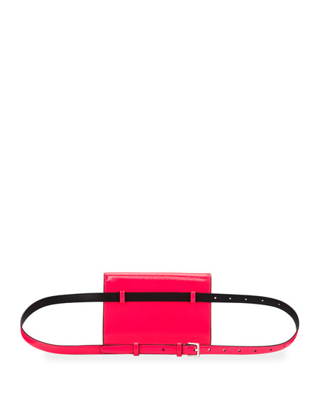 Image 4 of 5: Saint Laurent Kate YSL Monogram Neon Belt Bag
