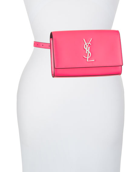 Image 5 of 5: Saint Laurent Kate YSL Monogram Neon Belt Bag