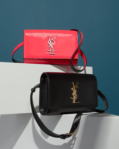 Image 2 of 5: Saint Laurent Kate YSL Monogram Neon Belt Bag