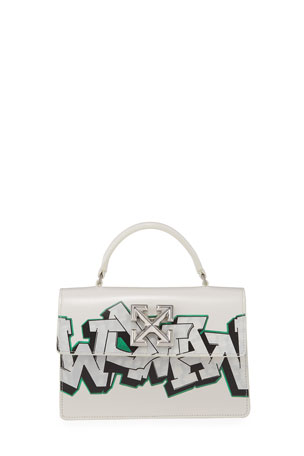 Off-White Jitney 1.4 Graffiti Top-Handle Bag