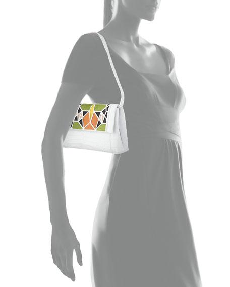 Nancy Gonzalez Gotham Crocodile Patchwork Clutch Bag