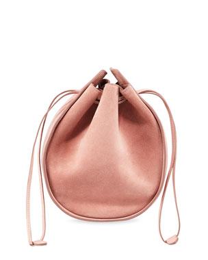 cc0d01c3281e5 THE ROW Suede Drawstring Pouch Bucket Bag