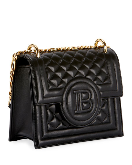 Balmain Quilted Leather Wallet On Chain Bag