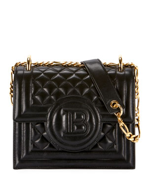 243809b7a03 Balmain Quilted Leather Wallet On Chain Bag
