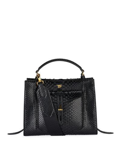 Small Python Top Handle Bag