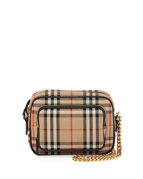 Burberry Small Vintage Check Camera Shoulder Bag