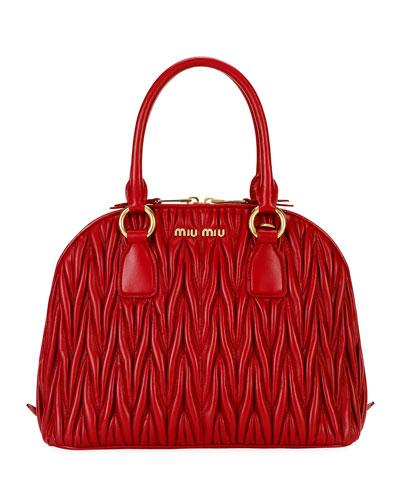 Matelasse Dome Top Handle Bag