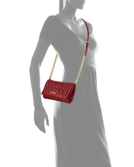 Miu Miu Matelasse Flap Crossbody Bag