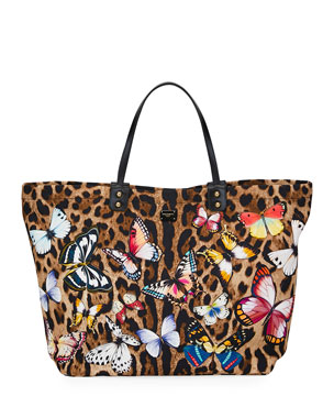 632b198ce5d Dolce & Gabbana Leopard-Print Tote Bag with Butterfly