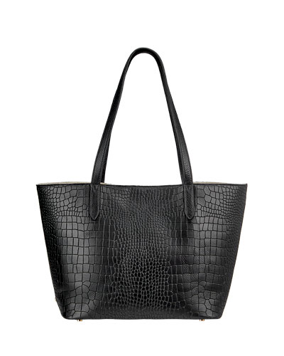 Teddy Alligator-Print Tote Bag