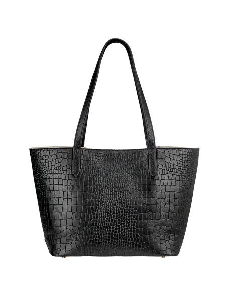 Gigi New York Teddy Alligator-Print Tote Bag