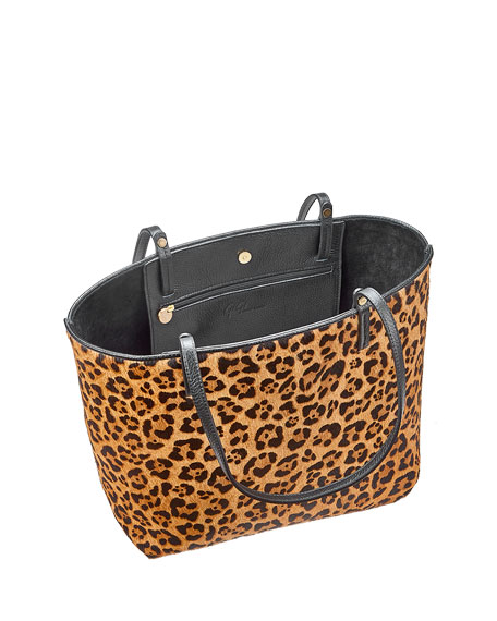 Image 2 of 2: Gigi New York Tori Leopard-Print Tote Bag