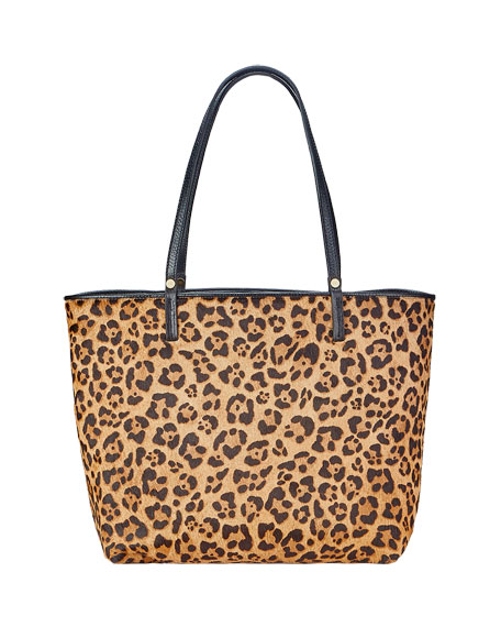 Image 1 of 2: Gigi New York Tori Leopard-Print Tote Bag