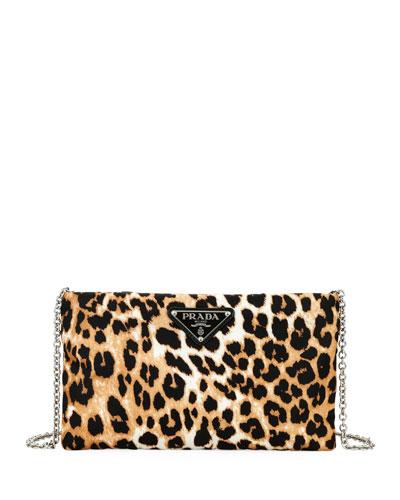 Tessuto Soft Leopard Zip Pouch w/ Chain