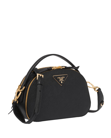Prada Prada Odette Top-Handle Bag w/ Removable Crossbody Strap