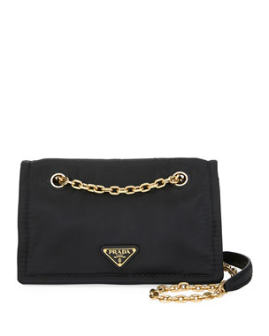3b91f43563e9 Prada Tessuto Chain Shoulder Bag