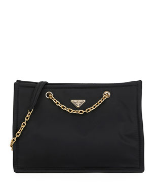 b60cc7b45630 Prada Tessuto Chain Shopper Tote Bag