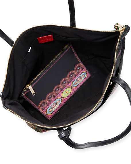 Etro Colorful Bottom-Border Tote Bag