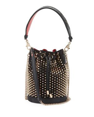 370cdce8936 Christian Louboutin Marie Jane Studded Bucket Bag