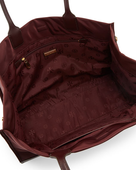 Tory Burch Ella Nylon Logo Tote Bag