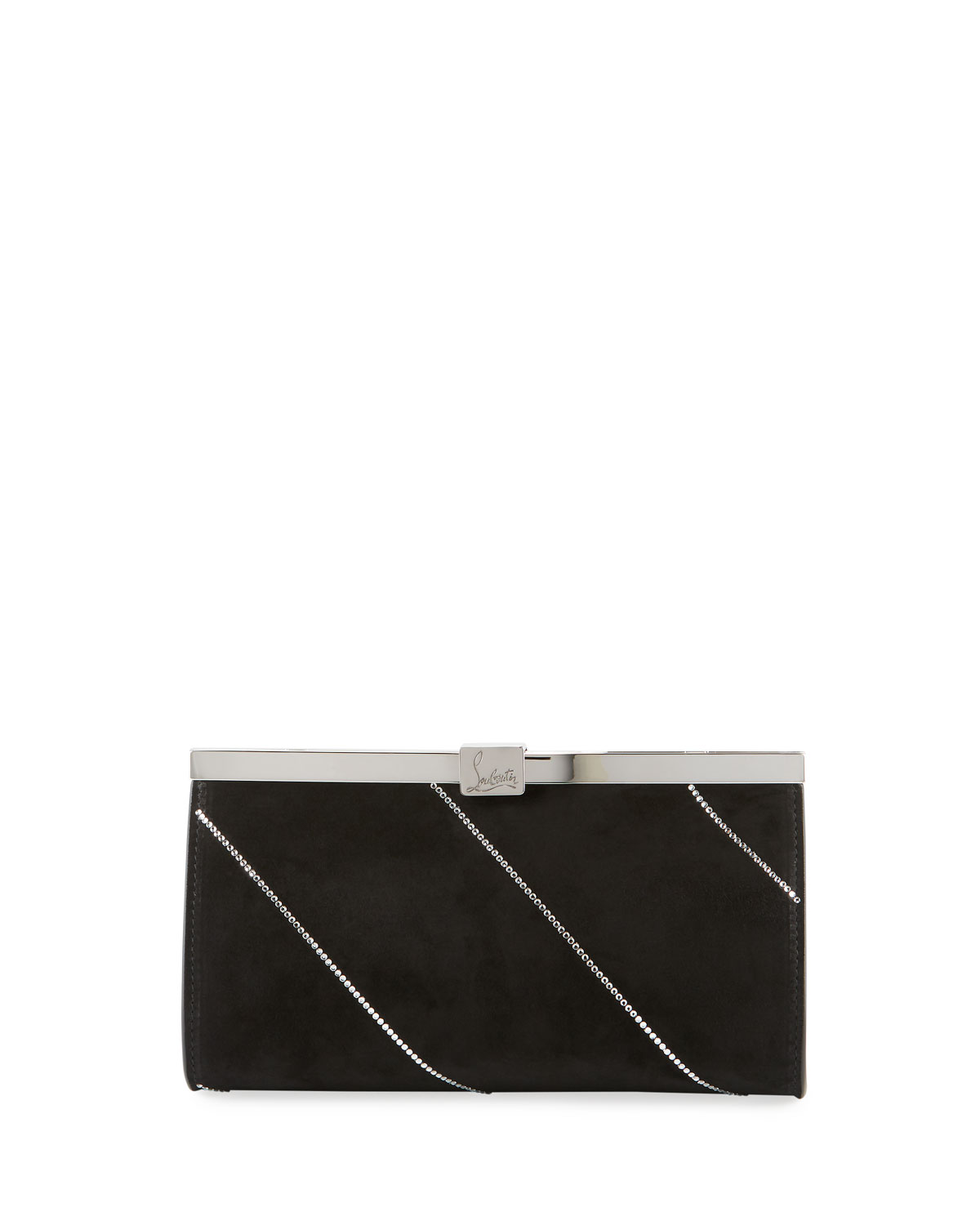 Christian Louboutin Palmette Small Suede Clutch Bag