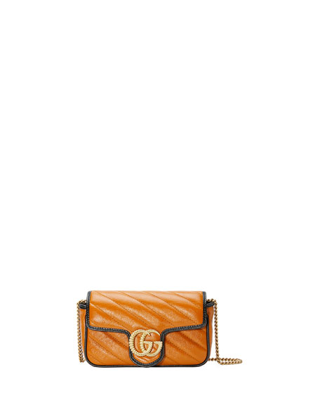 Gucci GG Marmont Torchon Super Mini Crossbody Bag - Golden Hardware