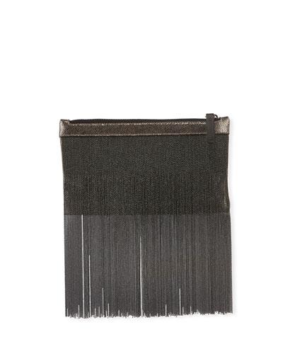 Belt Bag with Monili Fringe