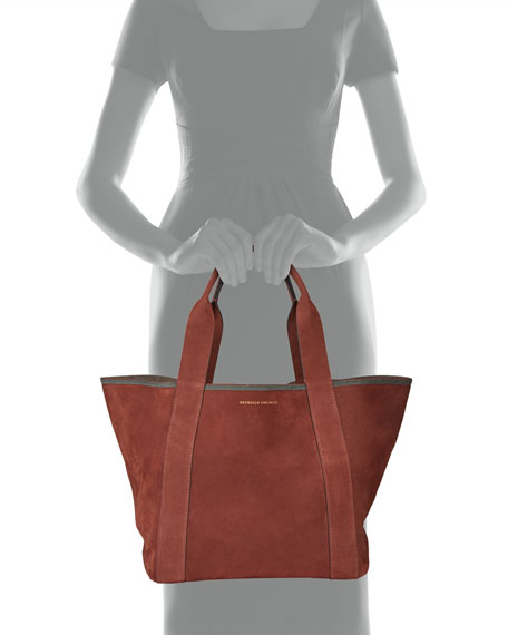 Brunello Cucinelli Suede Shopper Tote Bag