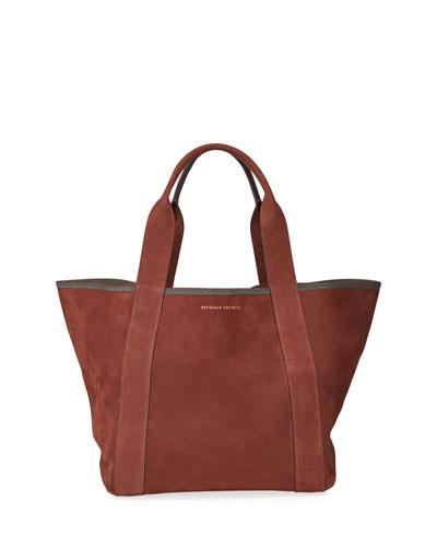 Suede Shopper Tote Bag
