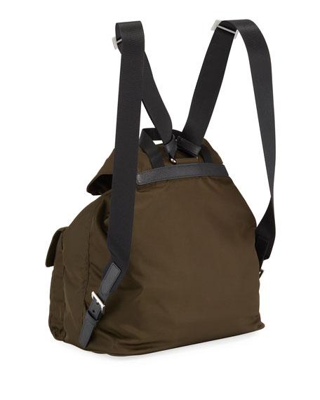 Prada Large Nylon Backpack w/ Detachable Pouch