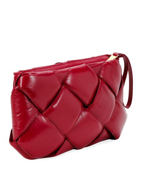 Bottega Veneta Puffer Intrecciato Zip-Top Clutch Bag