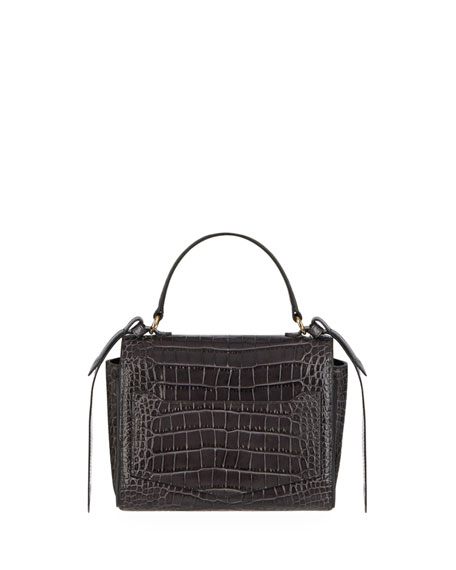 Image 3 of 4: Givenchy Eden Mini Crocodile-Embossed Crossbody Bag