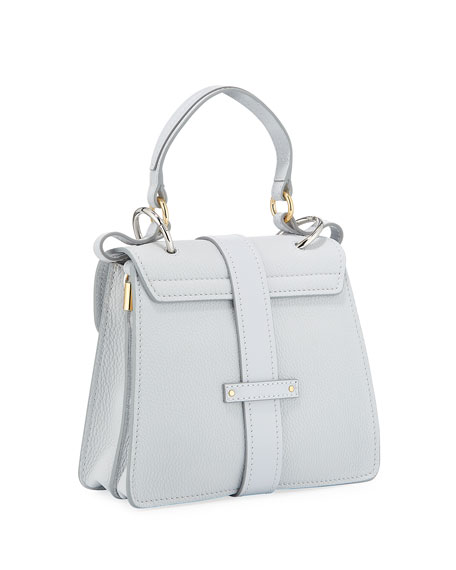 Image 3 of 4: Chloe Aby Mini Lock & Key Belted Top-Handle Bag