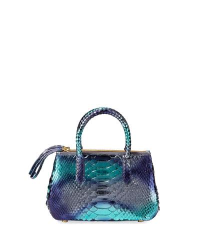 Nyx Mini Holographic Python Tote Bag