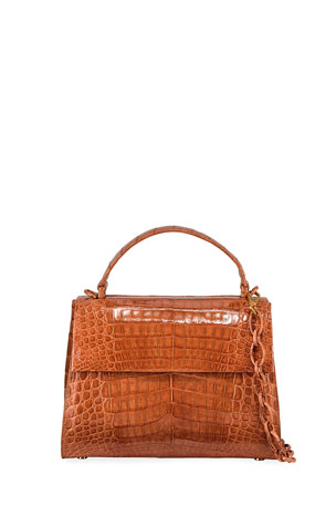 Nancy Gonzalez Lexi Large Crocodile Top-Handle Bag