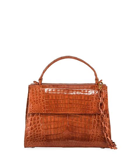 Nancy Gonzalez Medium Crocodile Top Handle Bag