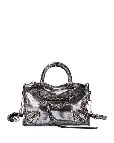 Balenciaga Metallic Nano City AJ Crossbody Bag
