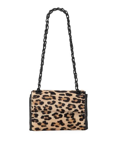 Nancy Gonzalez Madison Small Leopard Flap Shoulder Bag