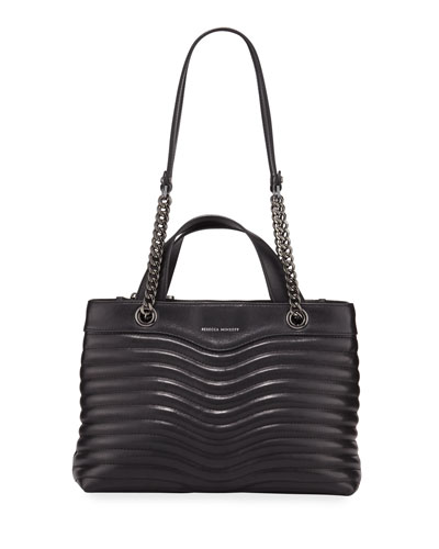 M.A.B. Quilted Satchel Bag