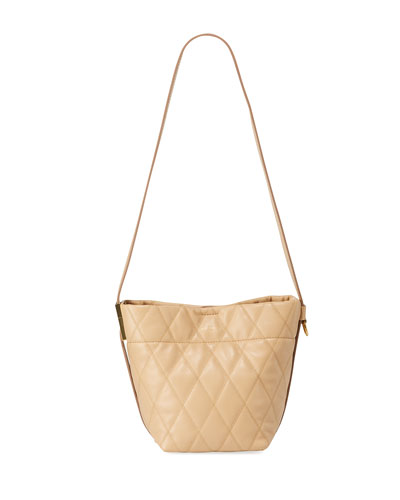 GV Quilted Mini Bucket Bag