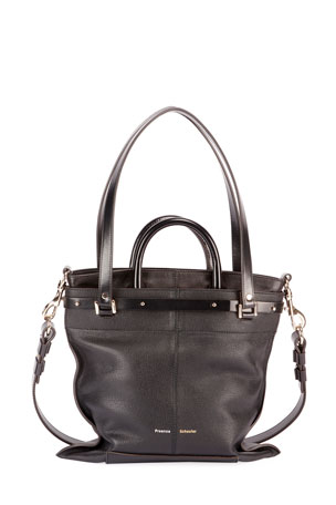 Proenza Schouler PS19 Small Grainy Crossbody Tote Bag